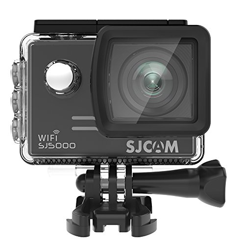 SJCAM SJ5000 WIFI Action Camera 14MP 1080p Ultra HD Waterproof Underwater Camera Large Screen Wide Angle Sports DV Camcorder for Diving Swimming Surfing Biking - Black by SJCAM
