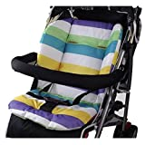 BININBOX Baby Stroller Cushion Pad Pram Padding Car Seat Mat Double Side (Purple)