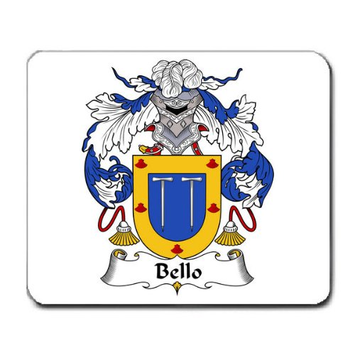 Bello Family Crest Coat of Arms Mouse (Belle Crest)