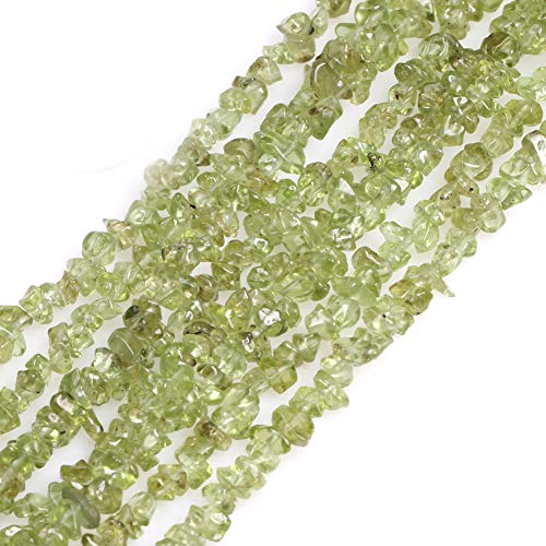 GEM-inside 3-5mm Green Peridot Chips Beads Gemstone Gem Loose Beads Findings Accessories Agate Chips One Strand 34 Inches