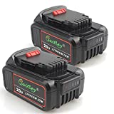 TenMore DCB205-2 5.0A Replacement Battery for DeWalt 20V Max XR DCB200 DCB204 DCD DCG DCF DCS DCK DCL Power Tools,2-Pack