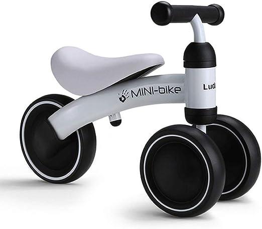 YXZQ Infant Mini Balance Bike - Bicicleta de bebé para Regalo de cumpleaños, para niños de 1 año de Edad, Juguetes Seguros para Montar en Bicicleta, Azul/Rosa/Rojo/Blanco (Color: Blanco): Amazon.es: Hogar