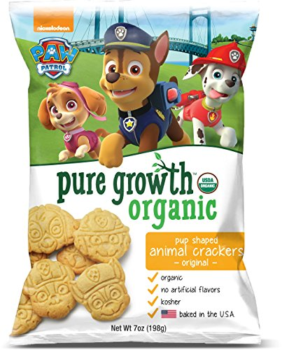 Chocolate Crackers Dipped (Pure Growth Organic Paw Patrol Animal Crackers, Original, 7 Ounce)