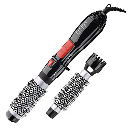 Revlon Ceramic Hot Air Brush Kit with 1 Inch & 1-1/2 Inch Brush Attachments