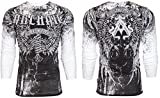 Archaic AFFLICTION Men THERMAL T-Shirt HOLY MAN Wings Tattoo Biker UFC
