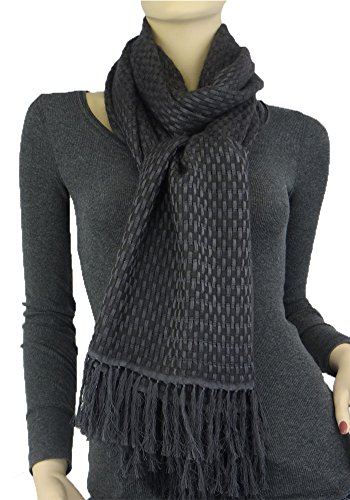 lk Blend Basket Weave Stole Charcoal (Basket Weave Charcoal)