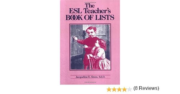 Amazon.com: The Esl Teacher's Book of Lists (9780876283073 ...