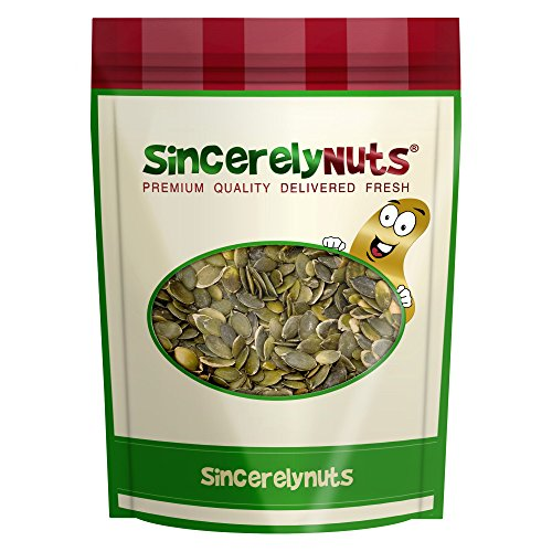 Sincerely Nuts Pumpkin Seeds- Pepitas (Raw) (No Shell) 1LB Bag (Pepitas Pumpkin Seeds)