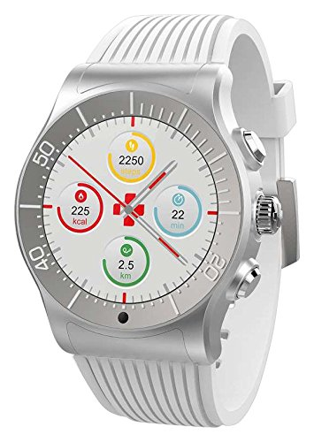 MyKronoz krze Sport – Silver/White Smart Watch