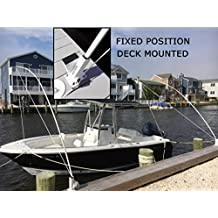 Mooring Whips Fixed Position Deck Mounted 14 ft. poles 20,000lb. boats all pleasure craft