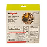 Legrand - Wiremold CDB-5 Corduct Overfloor Cord Protector-  Rubber Duct Floor Cord Cover, Brown (5 Feet)