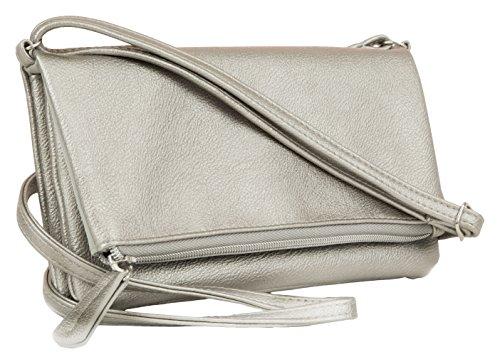 Mundi Flap Crossbody Handbag One Size Pewter