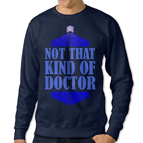 Doctor Who Not That Kind Of Doctor Men Navy Sportswear Hoody (The Deadly Assassin Doctor Who)