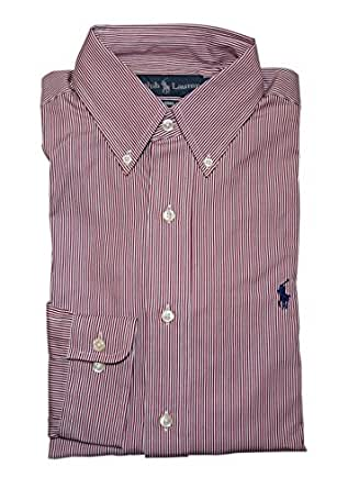 Ralph Lauren Polo Mens Classic Fit Cotton Dress Shirt Red