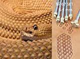 Snake Skin Leather Crafting Stamp Tool for Leather Crafts Brass #67Set