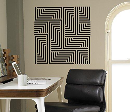 Optical Illusion Wall Decal Beautiful Ornaments Vinyl Sticker Geometric Shapes Home Interior Living Room Decor Door Stickers Window Decals Housewares Design Custom Decals - Interior Shop Design Optical