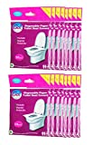 GoHygiene! Travel Essential - Disposable Paper Toilet Seat Covers - 16 PACKS (160pcs) + 2 FREE PACKS!
