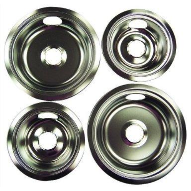 Universal Chrome Reflector Drip Pan Bowl -