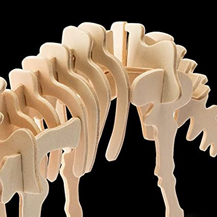 3D Wooden Puzzle Dinosaur Series- DIY Model Kits - Toys for Kids and Adults (Stegosaurus) Robotime
