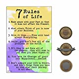 Inspirational Poster Print for Classroom, Home, or Office: RULES TO LIVE BY (Heavy Matte Poster Paper, 13''×19'')