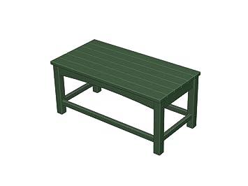 Plastique recyclé Club Table basse vert chasse: Amazon.fr: Jardin
