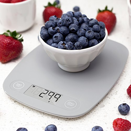 Large Product Image of Digital Kitchen Scale/Food Scale - Ultra Slim, Multifunction, Easy to Clean, Large Display (grey)