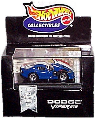 Hot Wheels Collectibles - Limited Edition Cool Collectibles - Dodge Viper GTS (Red/White/Blue) - Mounted in Collector's Display ()