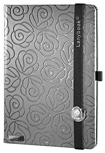 Lanybook Medium Journal: Crystal Rose, Grey