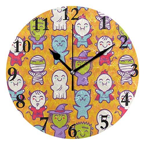 NMCEO Round Wall Clock Cosplay Children Halloween Costumes Acrylic Original Clock for Home Decor Creative]()