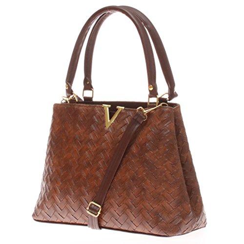 Leather with Handbags Shoulder Beautiful Adjustable Women's Straps Twinya Hobo Satchel Handle Bags Brown PU Top qxEgA4p