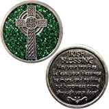Irish Blessing Bright Green Enamel Token