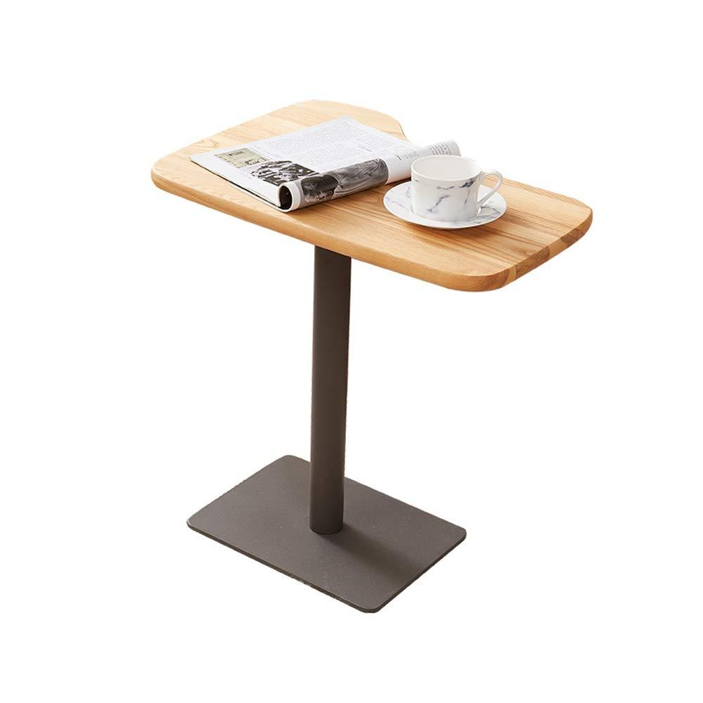 ZZHF ナイトテーブル、ソリッドウッドサイドコーヒーテーブル金属コーナーいくつかのソファサイドベッドサイドテーブルベッドルームサイドテーブル22