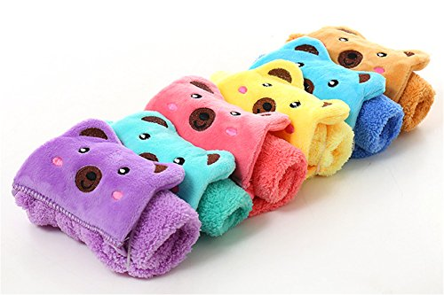 Washcloth Cute Animal Microfiber Small Towel Cartoon Absorbent Lovely Towel For Kitchen Bathroom, 3pcs, Color May Vary by DELIFUR by Delifur