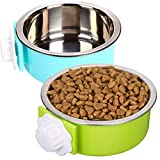 ZYYRT Crate Dog Bowl Set Removable Stainless