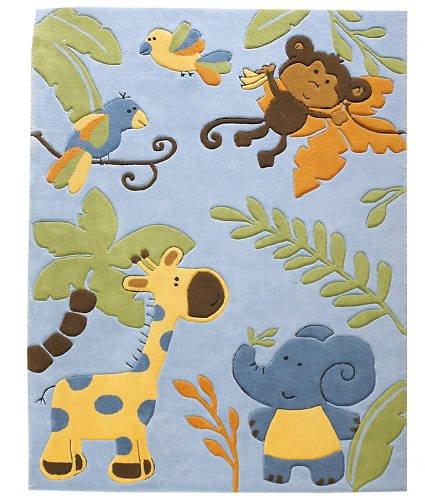 Kinderteppich Teppich Zoo, Farbe Blau, 120x180: Amazon.de: Küche ...