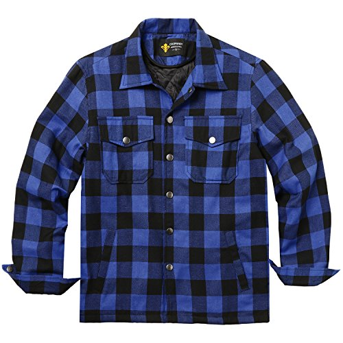 Men Flannel Thermal - COOFANDY Mens Flannel Thermal Lined Plaid Button Down Shirt Jacket Outdoor Coat ((US) L /(Tag XL), XXXX)