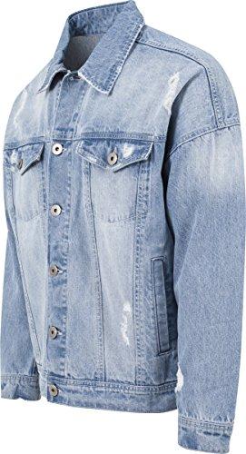 Ripped Hombre Jacket Urban Classics para Chaqueta Denim Azul Bleached 1q66znv4