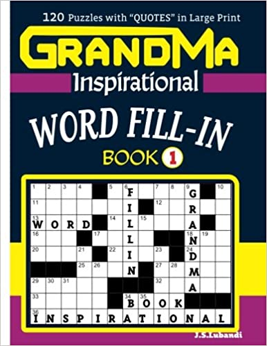 GRANDMA Inspirational WORD FILL-IN Book:120 puzzles and ...