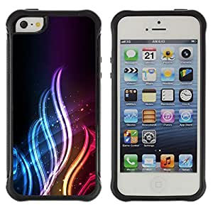 ZAAAZ Rugged Armor Slim Protection Case Cover Durable Shell - Neon Flame - Apple Iphone 5 / 5S