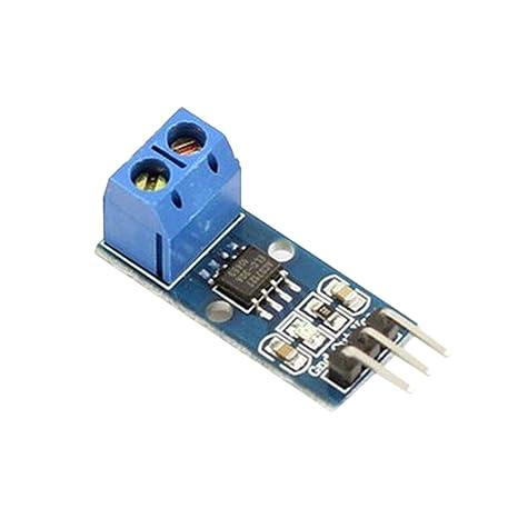 Kongnijiwa Módulos 20A ACS712 módulo 5V Rango de medición Actual Junta de Sensor Hall para Arduino