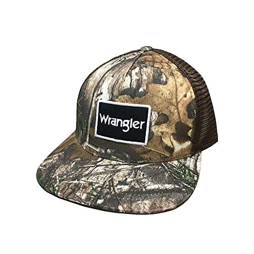 (Wrangler Realtree Camo and Mesh Adjustable Snapback Hat)