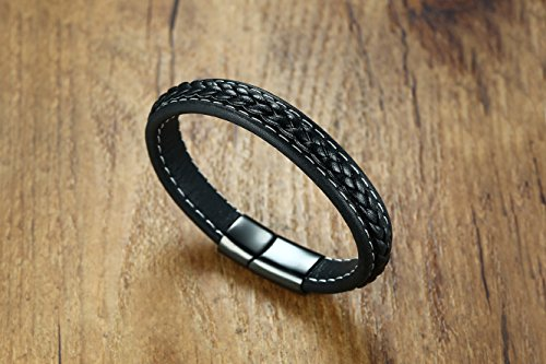 XUANPAI Handmade His and Hers Relationship Promise Braided Leather Bracelets Sets Gift for Couples by XUANPAI (Image #1)