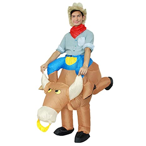 Niños Adultos Bull Caballero Traje Inflable Disfraz Carnaval ...