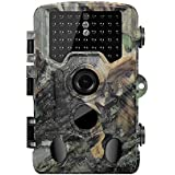 Siensen Trail Camera 16MP HD Wildlife Camera, 0.2S Fast Trigger, 120°PIR Wide Angle Hunting Camera with 46pcs Low Glow IR LEDs Night Vision Up to 65FT/20M, IP66 Waterproof Game Camera