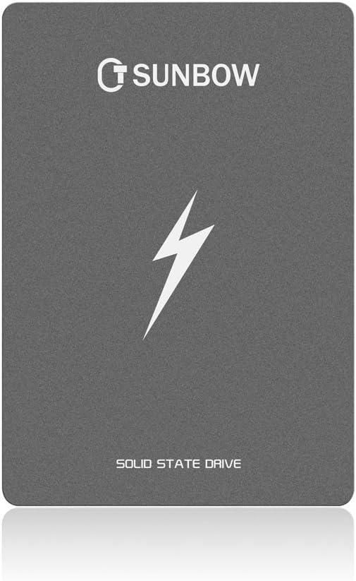 TCSUNBOW 120 GB 128 GB de 2,5 Pulgadas SSD con 128 MB de Memoria SATAIII 6 GB/s de Disco Duro Interno de Estado sólido para Notebook Tablet PC de Escritorio (X3 120 GB)