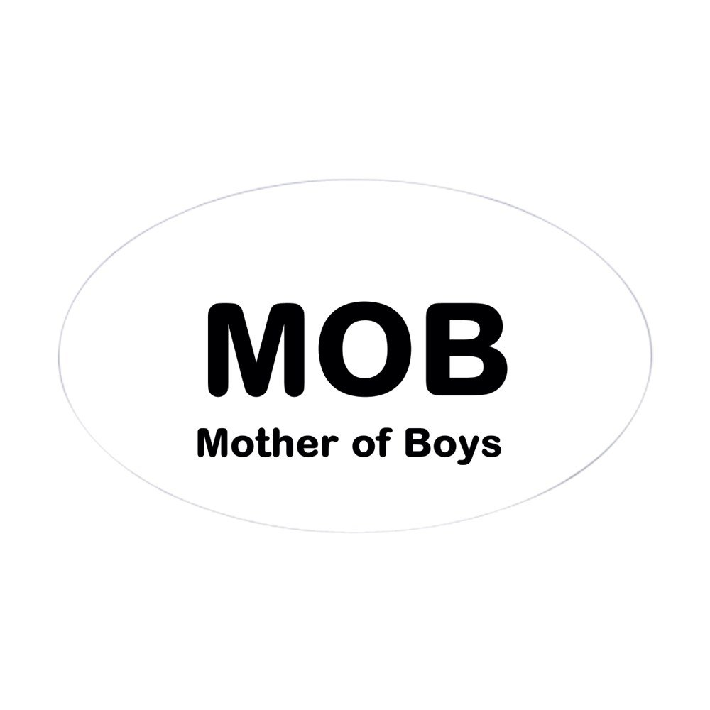 Amazon com cafepress mother of boys sticker oval oval bumper sticker euro oval car decal home kitchen