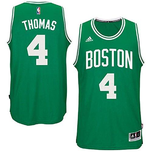 adidas Isiah Thomas Boston Celtics NBA Youth Green Swingman Road Jersey (Youth Large 14-16)