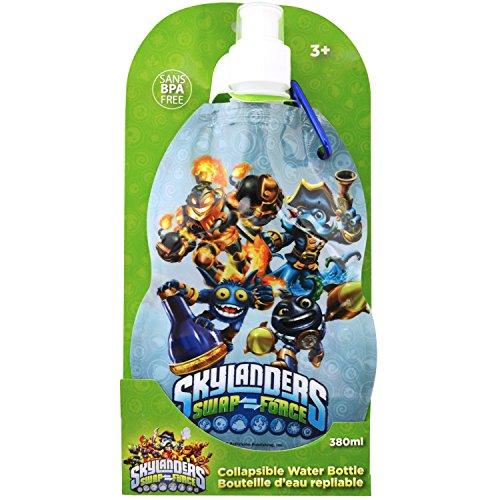 Skylanders Swap Force Collapsible Water Bottle 380ml Sans BPA Free]()