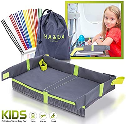 Foldable Kids Travel Tray For Plane Activities And Games Toddlers Children Unisex