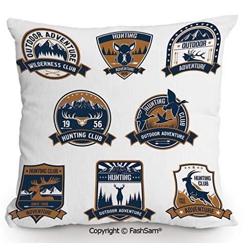FashSam Home Super Soft Throw Pillow Shield Icons